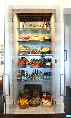 Foster's Refrigerator Steals the Show on The Real Housewives of Beverly Hills — Yes, Really!Yolanda Foster's Refrigerator Steals the Show on The Real Housewives of Beverly Hills — Yes, Really! Foster House, Glass Fridge, Glass Front Refrigerator, Cuisines Diy, Housewives Of Beverly Hills, Custom Glass, Butler Pantry, Real Housewives, Housewife