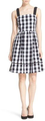 Kate Spade Gingham Fit & Flare Dress