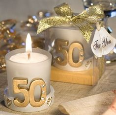 50 Candle Party Favors instead of the number we could put adisynns name an thank you in stencil etching.
