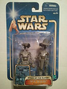 """Star Wars: SP-4 & JN-66 Research Droids '03/#05 2002 AOTC 3.75"""" Action Figure---    http://www.amazon.com/gp/product/B004BUVN0G?ie=UTF8=A1JZHG9III7SDE=GANDALF%20THE%20GRAYZZ%20BOOKSTORE   ---"""