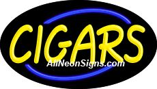 "Cigars Flashing Neon Sign-ANSAR14176  Dimensions: 17""H x 30""L x 3""D  Custom colors ship in 5-7 business days  110 volt flasher transformer  Cool, Quiet, and Energy Efficient  Hardware & chain are included  Comes standard with 6' power cord  Indoor use only  1 Year Warranty/electrical components  1 Year Warranty/standard transformers."