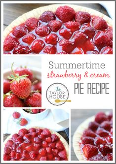 Delicious Summertime Strawberry Cream Pie recipe!