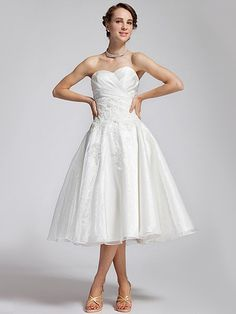 Jeweled Lace Organza Reception Dress... Holy Betty Draper! Beautiful 50's style reception dress for dancing the night away.