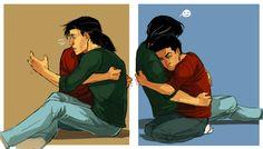 kohidrop:  dD Week - Day 2: Dick & Damian Surprise hug from Damian!