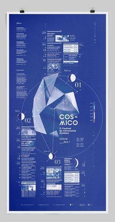 Cósmico_ by Clara Fernández, via Behance Web Design, Book Design, Layout Design, Cover Design, Graphic Design Posters, Graphic Design Typography, Graphic Design Inspiration, Cristiana Couceiro, Poster Layout