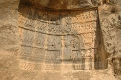 Sasanian Empire - Rock Reliefs in Tang-e Chowgan Gorge, Bishapur (241-272). The third relief at Bishapur's Tang-e Chowgan has five horizontal registers. Like reliefs one and two, it was made by the Sasanian king Shapur I (241-272).