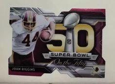 John Riggins 2015 Topps Chrome Super Bowl on The 50 Die Cut Washington Redskins   eBay