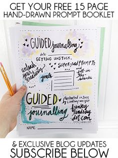 Free 15 Page Hand-Drawn Prompt Journal {newsletter subscription required}