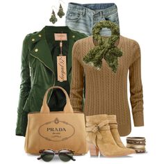 """""""For Leather and Blue Jeans, Babe"""" by leegal57 on Polyvore"""