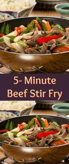 5 Minute Beef Stir Fry Recipe Mr Food Recipes Beef Stir Fry Recipes Food