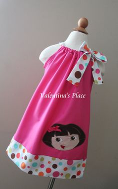 Super Adorable Dora The Explorer pillowcase style dress.
