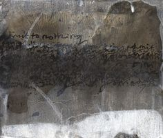 Admit to nothing . Ink and white acrylic on tea stained paper . 2015 . Alice Leach