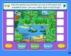 Living, nonliving, and habitats interactive game. This would be good to help students understand these concepts in a science class. Kindergarten Science, Elementary Science, Science Classroom, Teaching Science, Science For Kids, Primary Science, Science Fun, Science Resources, Science Lessons