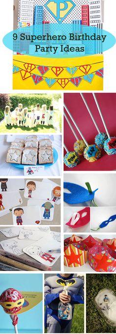 Fun ideas for a superhero themed kids birthday party!