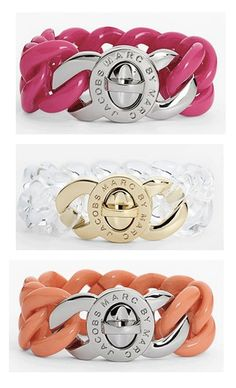 Fun turnlock bracelets by Marc Jacobs  http://rstyle.me/n/dwy5nnyg6