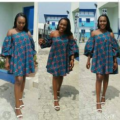 Check out Fabulous Hot Ankara Styles for Lagos Babes .hat make them fill on top of the world. These lovely styles include Short Anka Ankara Short Flare Gowns, Short African Dresses, Short Gowns, Ankara Gowns, Latest African Fashion Dresses, African Print Dresses, African Print Fashion, Ankara Fashion, African Prints