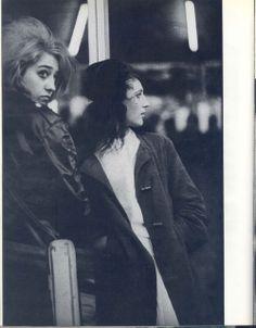 """Rocker girls, """"Rock 'N' Roll Times"""" series by Jurgen Vollmer, France, early 1960s"""