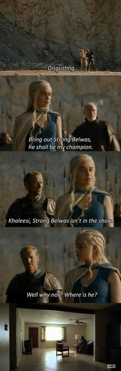 No Strong Belwas. HAHAHAHAHA. #gameofthrones #breakingbad