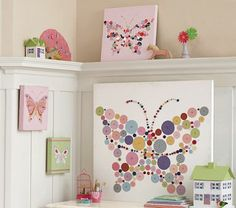 Pottery Barn butterfly art...