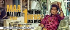 Congratulations! A-Kay. 1 million views in just 3 days #newsong#maaballiye#A-KAy