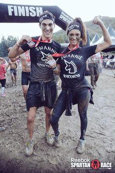 Nina and Chris at the Spartan Race <3 CUTIES