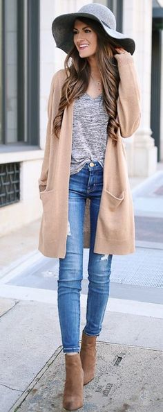 #fall #street #style | Neutral Tones Outfit