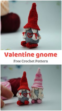 Crochet quick and easy Amigurumi Valentine Gnome Pattern. This step-by-step pattern includes detailed instructions illustrated with photo. There is necessary skills for this pattern: magic ring/circle, crocheting in spirals, single crochet, single crochet increase and decrease, basic sewing techniques. All Free Crochet, Single Crochet, Crochet Baby, Knit Crochet, Sewing Basics, Basic Sewing, Magic Ring, Sewing Techniques, Gnomes