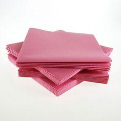 Servilletas no tejidas rosa viejo (x50)