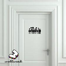 Toilet Gossip Door Sticker, Door Decal Bathroom Door Sign