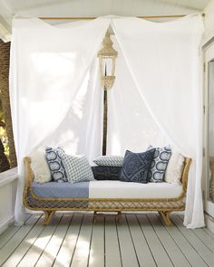 Inspired by a French sofa from the 40s, our handcrafted Avalon Daybed is perfect for lazy summer afternoons | #serenaandlily