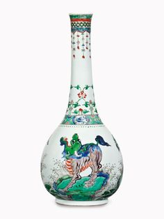 A large famille verte bottle vase, Kangxi Period (1662-1722). 20 in (50.9 cm) high. Estimate $30,000-50,000. This work is offered in Collected in America Chinese Ceramics from The Metropolitan Museum of Art on 15 September at Christies New York