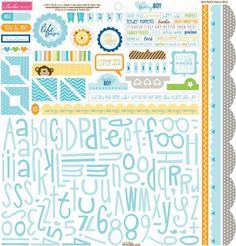Bella Blvd - Baby Boy Collection - 12 x 12 Cardstock Stickers - Alphabet and Bits at Scrapbook.com $3.59