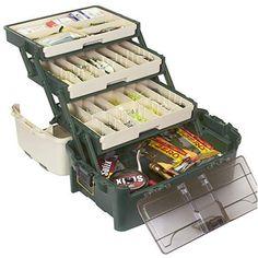 Plano 3113305 PLANO Tackle Systems Hybrid Hip 3 Tray Box, White/Green
