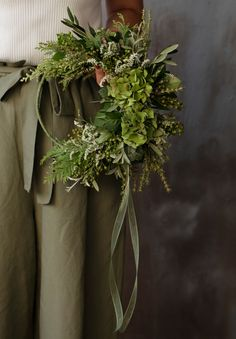 Dried Flower Wreaths, Dried Flowers, Flower Reef, Tree Decorations, Christmas Decorations, Paper Mulberry, Scandi Christmas, Green Wreath, Xmas Wreaths