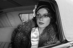 Bérénice Bejo nel film The Artist, cloche nera con veletta.
