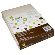 Diaper Wish List OsoCozy Packaged Flat Diapers as burp cloths