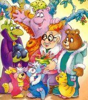 Teddy Ruxpin - I remember watching this cartoon all the time.  My parents told me they had wanted to get me the Talking Teddy bear (google it!) for Christmas one year, but it was too expensive. :(