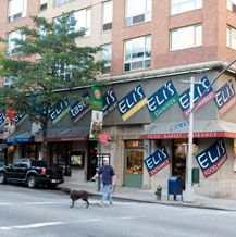 If you are out shopping on the Upper East Side, stop in at Eli's, excellent soup and a nice seating area and windows upstairs.