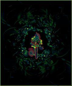 Blütenarrangement, Fraktales Bild