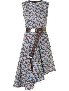 MARNI Floral Print Asymmetric Dress. #marni #cloth #dress