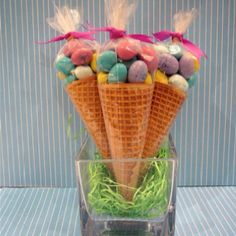 Easter M 's and Sugar Cones