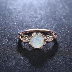 Virant opal rose gold ring - September 14 2019 at Diamond Cluster Engagement Ring, Gold Engagement Rings, Disney Engagement Rings, Vintage Opal Engagement Ring, Opal Wedding Rings, Hippie Wedding Ring, Gold Wedding, Disney Jewelry, Disney Rings