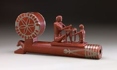 Pipe Bowl Date: ca. 1830 Geography: United States, Minnesota Culture: Santee Dakota (Eastern Sioux) Medium: Catlinite (red pipestone), lead