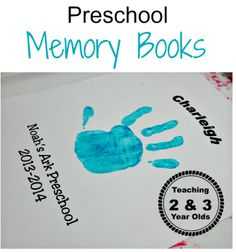Teaching 2 and 3 Year Olds: Preschool Memory Books. So cute! I want to do this for preschool AND cubbies❤️
