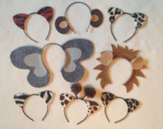 8 quantity animal ears headband birthday party zoo by Partyears