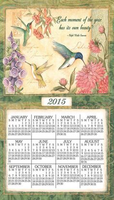 Wings and Blossoms Linen Calendar Towel
