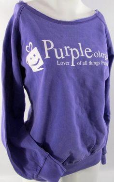 Purpleologist Sweatshirt - lover of all things Purple
