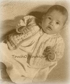 LACY Baby Sweater Knitting Pattern  Beautiful by touchofnostalgia7
