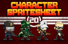 Check out Characters Spritesheet 20 by pzUH on Creative Market