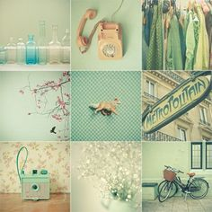 love the soft minty green!